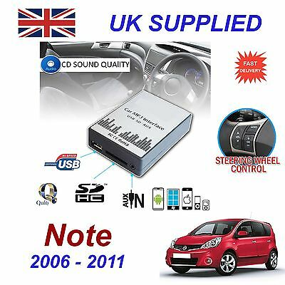 For Nissan NOTE MP3 SD USB CD AUX Input Audio Adapter Digital CD Changer Module