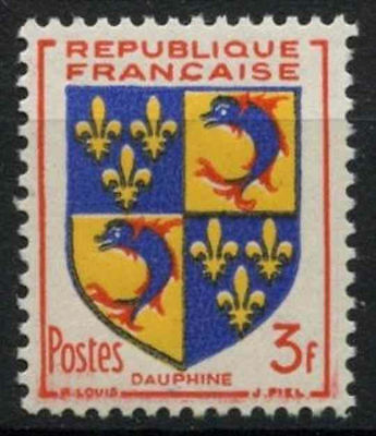 France 1953 SG#1183, 3f Dauphine Arms MNH #D5127