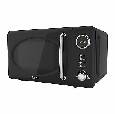 BRAND NEW Akai A24006 Digitall Microwave Oven 700w 20L Black RRP£119.99