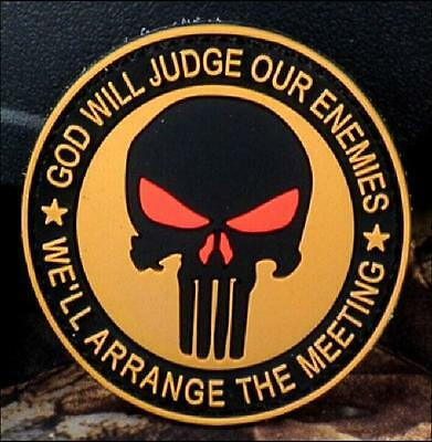 FD3282 Navy Seals The Punisher Badge PVC Rubber Military Tactical  Patch