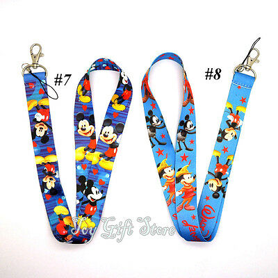 Cute Mickey Mouse Lanyard Keys ID Neck Strap New