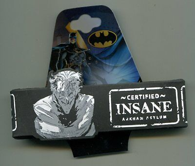 THE JOKER certified insane RUBBER WRISTBAND -c rwb-dc18 arkham asylum batman