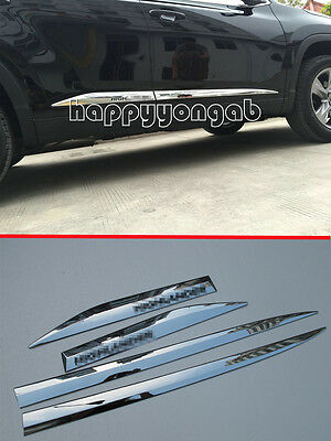 Chrome Body Door Side Molding cover trim for 2014-2015 Toyota Highlander Protect