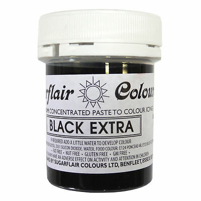 Sugarflair Maximum Concentrated Paste Edible Food Colouring 42g BLACK ExTRA