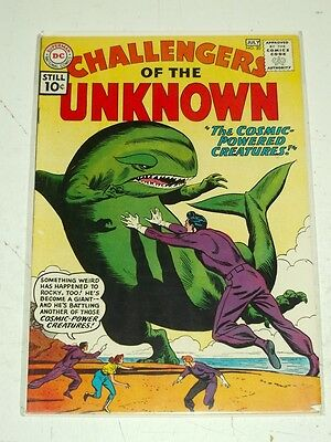 Challengers Of The Unknown #20 Fn (6.0) Dc Comics July 1961+