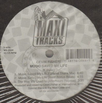 CEVIN FISHER - Music Saved My Life - Maxi