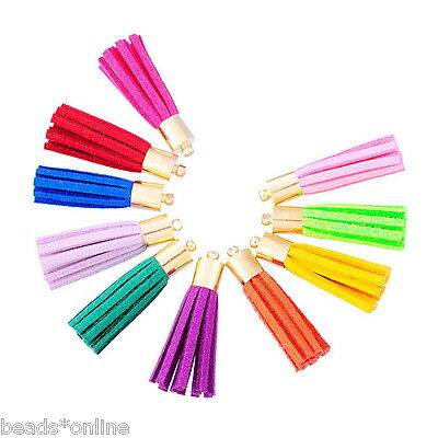 "10PCs Mixed Velvet Terylene Tassel Pendants Sewing Accessories 3.5cm(1 3/8"")"