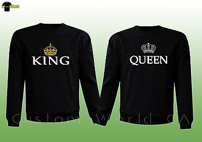 Couple Crewneck - King & Queen His and Hers -  Couple Matching Sweatshirt