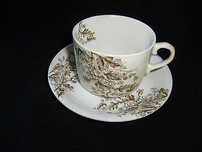 "Antique Meakin Cup and Saucer ""Washington Pattern""  Parisian Granite"