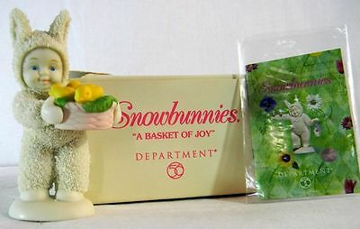 """Dept 56 Snowbunnies """"a Basket Of Joy"""" 56.05824 Brand New In Sealed Package"""