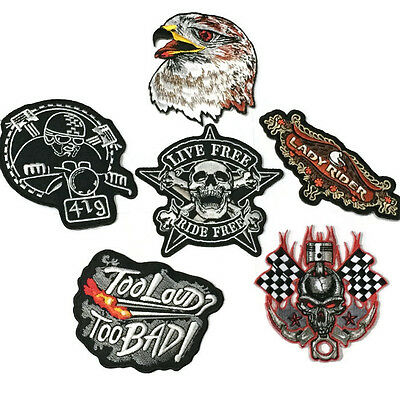 Custom Biker Vintage Patches High Quality Embroidered Iron-On Cloth Back Badges