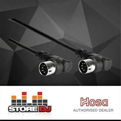 Hosa MID-305RR Right-Angle 5-Pin DIN to Same MIDI Cable (5ft)