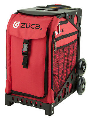 """Zuca Chili Red"""" Insert Bag with Black Frame - Perfect School Bag!"""