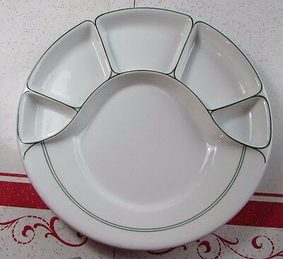Vintage Divided Black Knight Plates for Fondue/Buffet Germany RARE!