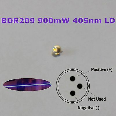 Extracted 405nm 900mW Laser Diode from Pioneer 16X BDR-209DBK Sleds