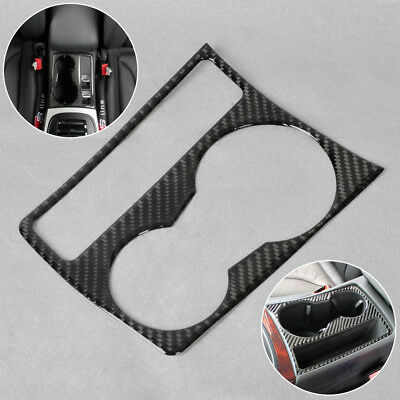 NEW Interior Cup Holder Panel Decoration Frame Carbon Fiber for Audi A4 B8 A5
