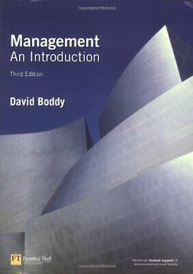 Management: an introduction by Boddy, David Paperback Book The Cheap Fast Free