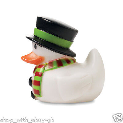 4 X Snowman Rubber Duck Stocking Filler Novelty Party Favour Christmas Floating
