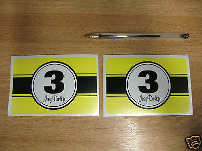 "2x Joey Dunlop Number 3 decals / stickers large 4.5""x3"""