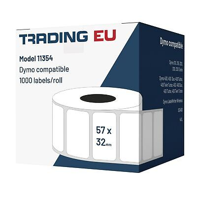 5x Label kompat. zu Dymo 11354  57 x 32 mm 1000 Label Etiketten pro Rolle