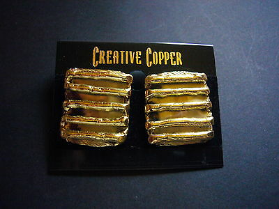 South African 'Creative Copper' Earrings Chunky Designer Jewellery Gift Dezigns