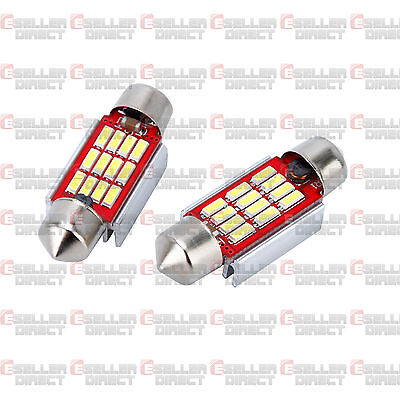 6K Pair Number Plate Bulbs Lights Led White Xenon Skoda Octavia Fabia Canbus