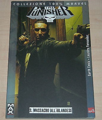 THE PUNISHER MASSACRO ALL'IRLANDESE 3 COLLEZIONE 100% MARVEL G. Ennis perfetto