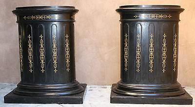Magnificent 19C French Pair Of Large Museum Piece Stands (Must See)