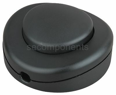Black Floor Switch Pedal for Lamp Light Feed Thru Cord Inline Push 2 A 125 V