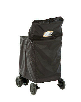 Sholley Trolley Weatherproof Cover - Black with Beige Name & Address Insert