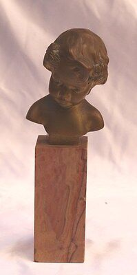 Magnificent 19C French Bronze On Marble, Signed Louis Sosson