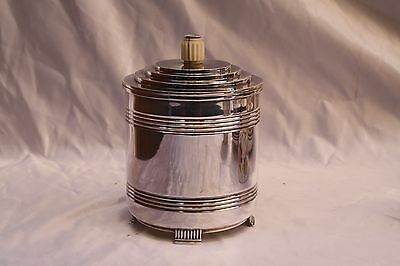 Magnificent 1909-1910 English Sterling Silver Tea Caddy Estate Of David Copley