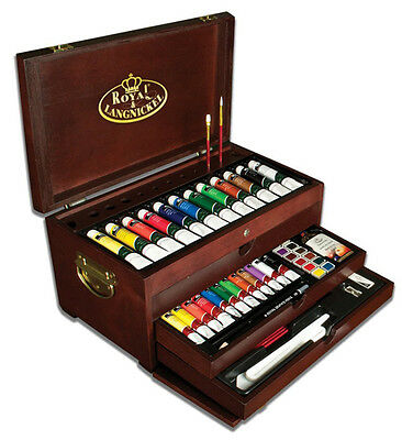 Premier Painting Drawing Chest Deluxe Art Crafts Tools Supplies Set 80 Piece