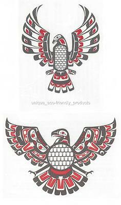87d9c832f LOT 2 - TRIBAL EAGLE RED & BLACK AWESOME 2 DIFFERENT DESIGNS Temporary  Tattoo