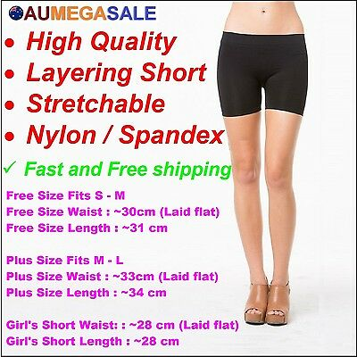 Women Basic Seamless Legging Short Leggings Layering Bodyshaper Nylon /  Spandex