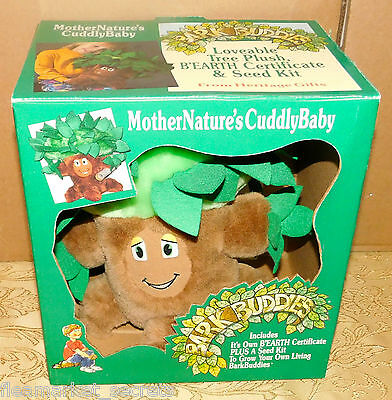 "RARE Vintage Heritage Gifts BARK BUDDIES PLUSH TREE 12"" TOY NEW IN BOX PLUSH"