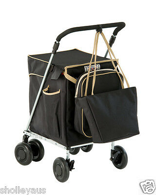 *FOLDABLE SHOPPING TROLLEY SET by Sholley Trolley & DISCREET aid to MOBILITY BB