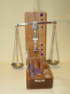 Antique scarce nice pocket size scales balance Apothecary jewelry!