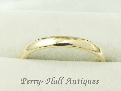 Vintage 9ct Gold Court Ring Fully Hallmarked Chester 1942 UK Size M½