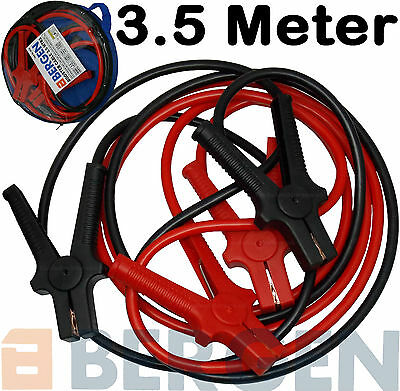 BERGEN HEAVY DUTY Jump Leads 3.5m Booster Cables CCA Copper Jump Starter Leads