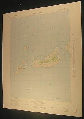 Cuttyhunk Massachusetts Buzzard Bay Fox Point 1978 antique color lithograph map