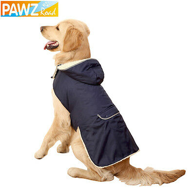 Pet Clothe Large Dog Coats Winter Warm Jacket Removable Hoodie Cotton Easy Wear