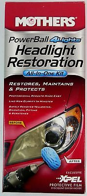 Mothers Polish PowerBall 4Lights Headlight Headlamp All-In-One Restoration Kit