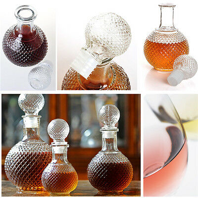 250Ml 500Ml 1000Ml Crystal Hand Cut Ship Wine Spirits Decanter With Stopper New