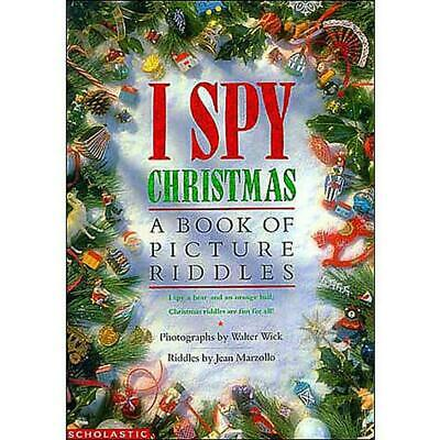 I Spy Christmas: A Book of Picture Riddles by Jean Marzollo Hardcover Book (Engl