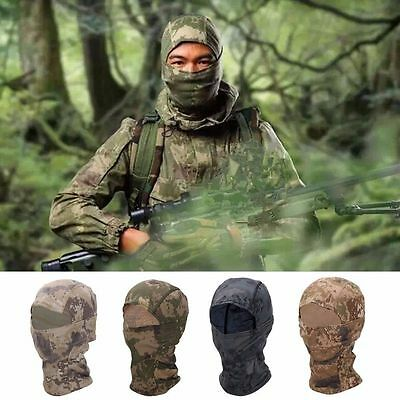 Camo Army Tactical Hunting Paintball Hoody Snood Neck Balaclava Full Face Mask
