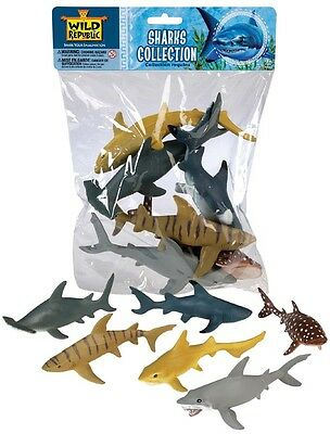 NEW Toy SHARKS Sea Ocean Animal Model Figurine -6 Piece Polybag 64577 Collection