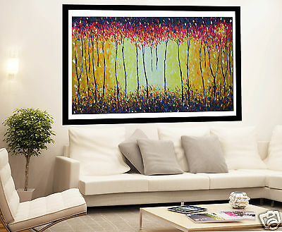 A0 SATIN POSTER PRINT ABORIGINAL bush fire outback dream australia PAINTING ART