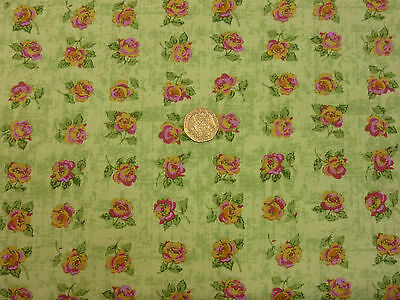 Pink Fat Quarter//MeterCotton Fabric FQRose Floral Flowers Patchwork Quilt