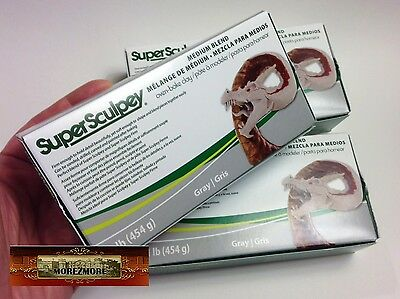 M00879x3 MOREZMORE 3 lb Super Sculpey Medium Blend Polymer Clay T20A